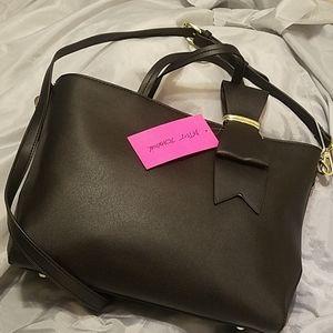 Betsey Johnson satchel w/ bow detail NWT